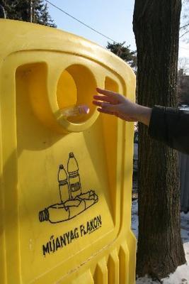 kép: szelektív hulladék tároló